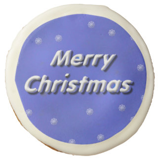 Snow 3D Merry Christmas Sugar Cookie