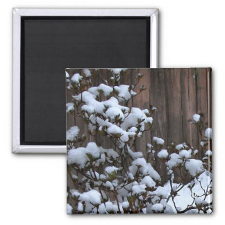 Snow Abstract Merchandise 2 Inch Square Magnet