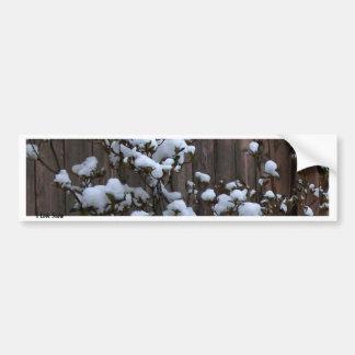 Snow Abstract Merchandise Bumper Sticker