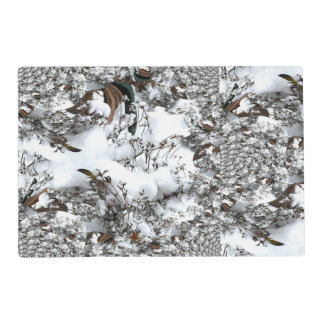 Snow Abstract Placemat