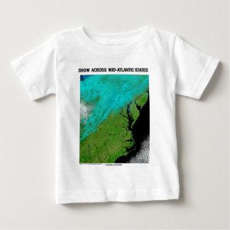 Snow Across Mid-Atlantic States Baby T-Shirt