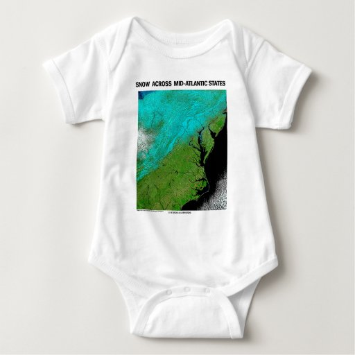 Snow Across Mid-Atlantic States T Shirts