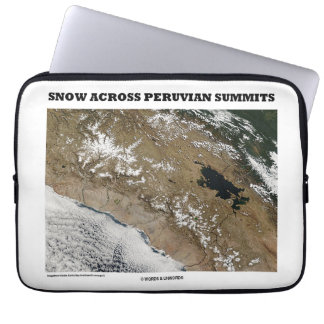 Snow Across Peruvian Summits (Picture Earth) Computer Sleeve