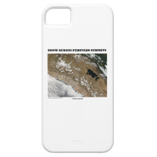 Snow Across Peruvian Summits (Picture Earth) iPhone SE/5/5s Case