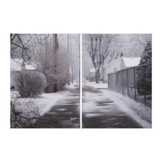 Snow Alley Gallery Wrap Canvas