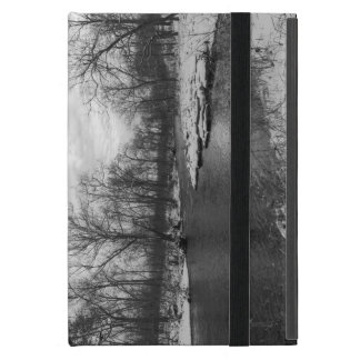 Snow Along James River Grayscale Case For iPad Mini
