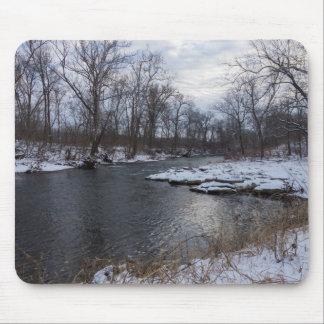 Snow Along James River Mouse Pad