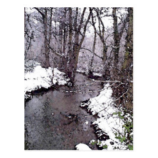 Snow along the River Postcard