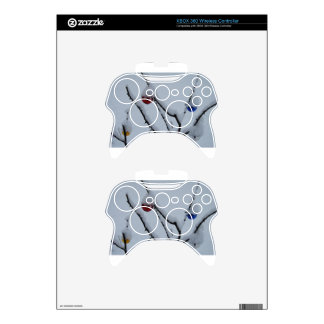 Snow and Christmas Ornaments Xbox 360 Controller Skins