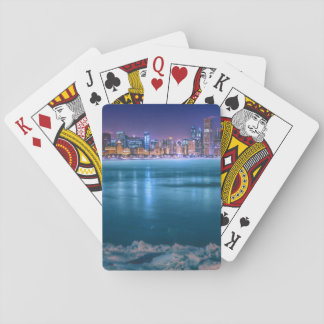 Snow and ice abound on Lake Michiga at Arctic Playing Cards