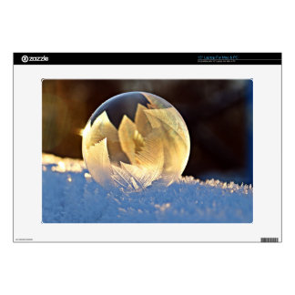 """Snow and Ice Bubble with Leaves 15"""" Laptop Decal"""