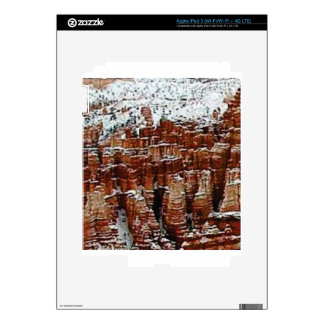 snow and ice in rock formationsf iPad 3 skins
