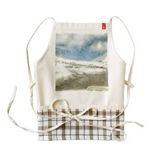 Snow and ice melting to form water zazzle HEART apron