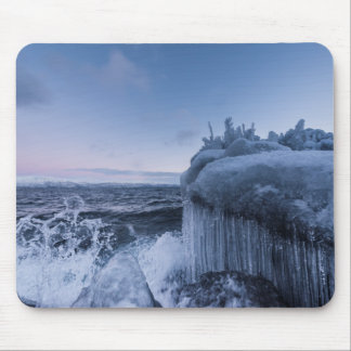 Snow and Ice on the Lake Shore Mousepad