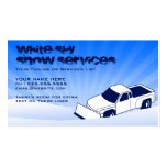 snow AND lawn services Business Card Templates