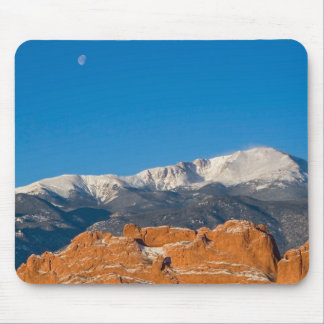 Snow and moon mouse pad
