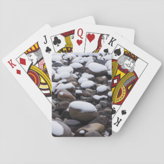 Snow And Rocks, Mt. Rainier National Park Playing Cards