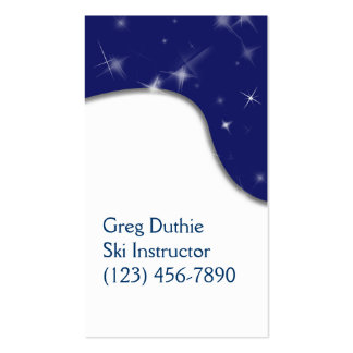 Snow and Starry Sky Customizable Template Business Card Templates