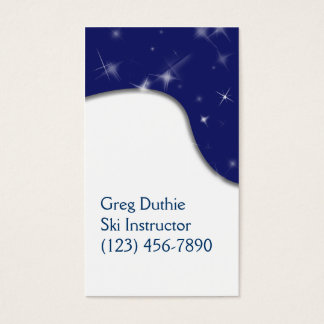 Snow and Starry Sky Customizable Template Business Card
