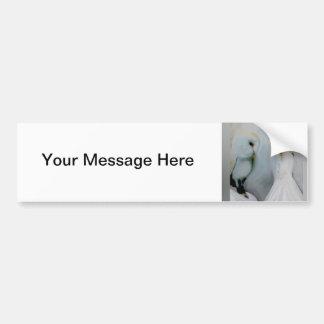 Snow Angel and White Owl Bumper Sticker