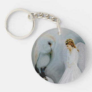 Snow Angel and White Owl Key Chains