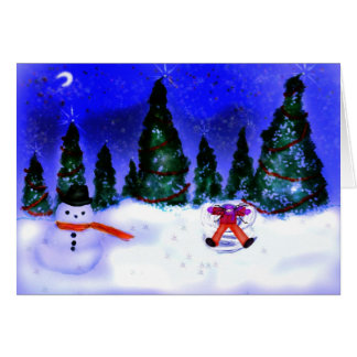 Snow angel cards