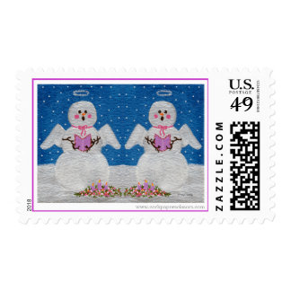 Snow Angel Choir Postage Stamps