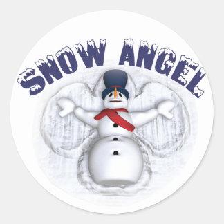 Snow Angel Classic Round Sticker