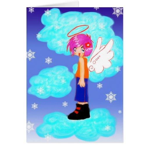 snow angel design card