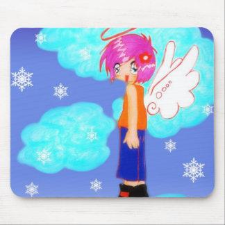 snow angel design mouse pad