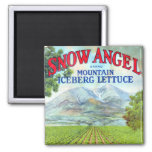 Snow Angel Fridge Magnet