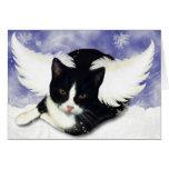 Snow Angel Kitty Card