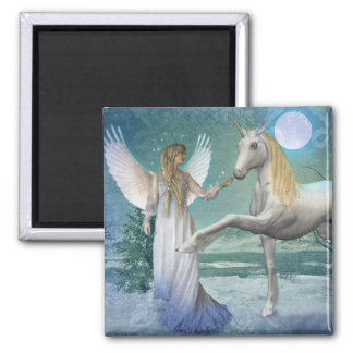 Snow Angel (Magnet) 2 Inch Square Magnet