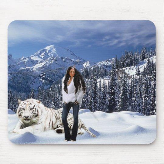 Snow Angel Mouse Pad