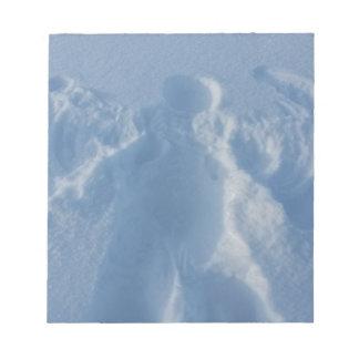 Snow angel notepad