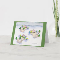 Snow Angel Piggies Card