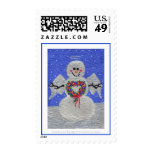 Snow Angel Postage Stamps