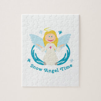 Snow Angel Time Jigsaw Puzzles