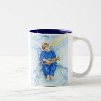 Snow Angel Two-Tone Coffee Mug