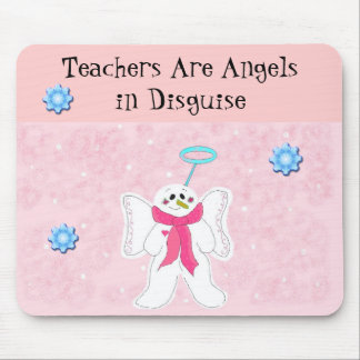 Snow Angel with Teacher Message Mouse Pad