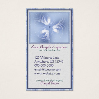Snow Angels Abstract Art Business Card