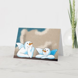 Snow Angels Greeting Cards