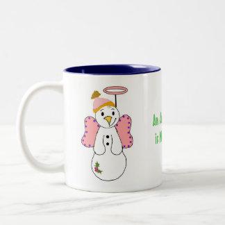 Snow Angels Two-Tone Coffee Mug