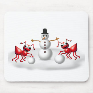 snow ants mouse pad