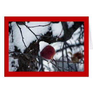 Snow Apple Greeting Card