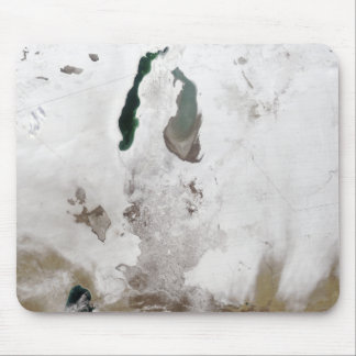 Snow around the Aral Sea Mouse Pad