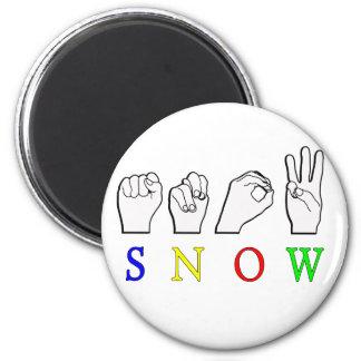 SNOW ASL SIGN LANGUAGE REFRIGERATOR MAGNET