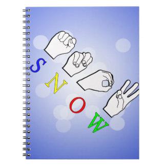 SNOW ASL SIGN LANGUAGE NOTEBOOK