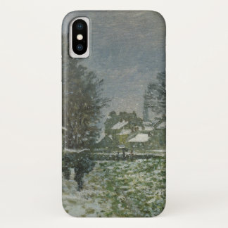 Snow at Argenteuil by Claude Monet, Vintage Art iPhone X Case