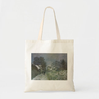 Snow at Argenteuil by Claude Monet, Vintage Art Tote Bag